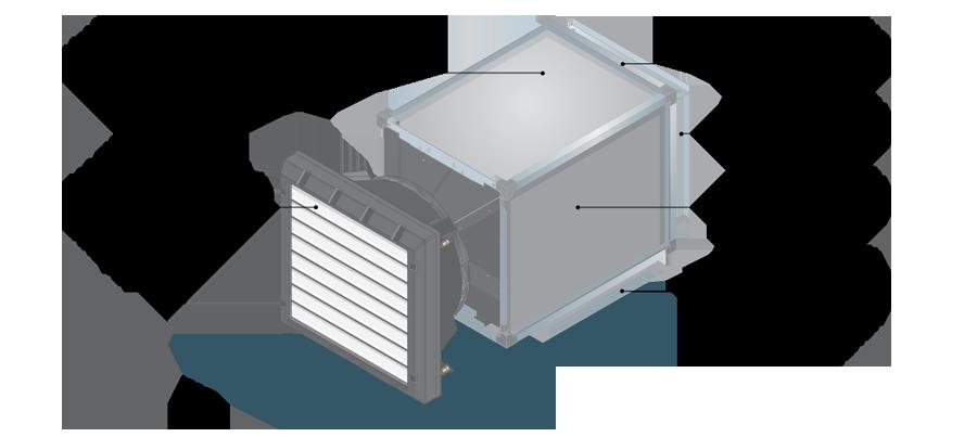 Воздушно-отопительный аппарат PROTON VK 700 c приточной камерой