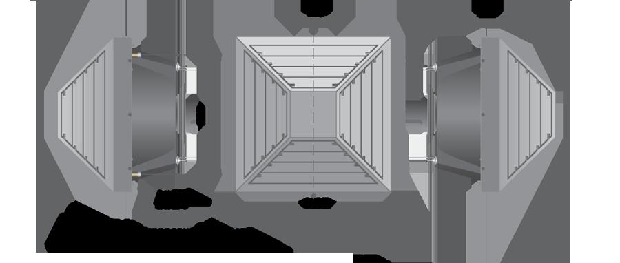 Воздушно-отопительный аппарат с анемостатом PROTON AST 35