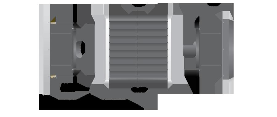 Тепловентилятор PROTON EX 70 с взрывозащищенным трехфазным АС-двигателем