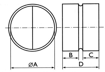 Обратные клапаны RSK, габаритные размеры