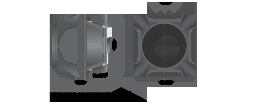 Воздушно-отопительный аппарат с конфузором PROTON K 310