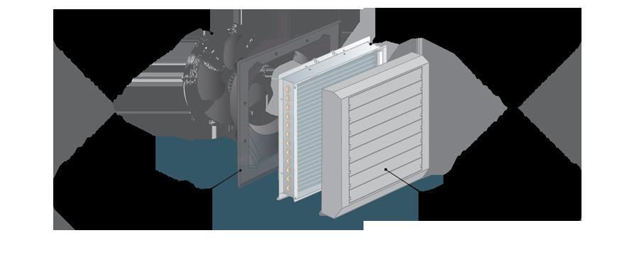 Тепловентилятор PROTON LT 55 с однофазным асинхронным АС-двигателем