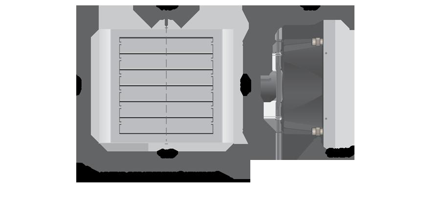 Тепловентилятор PROTON LT 15 с однофазным асинхронным АС-двигателем